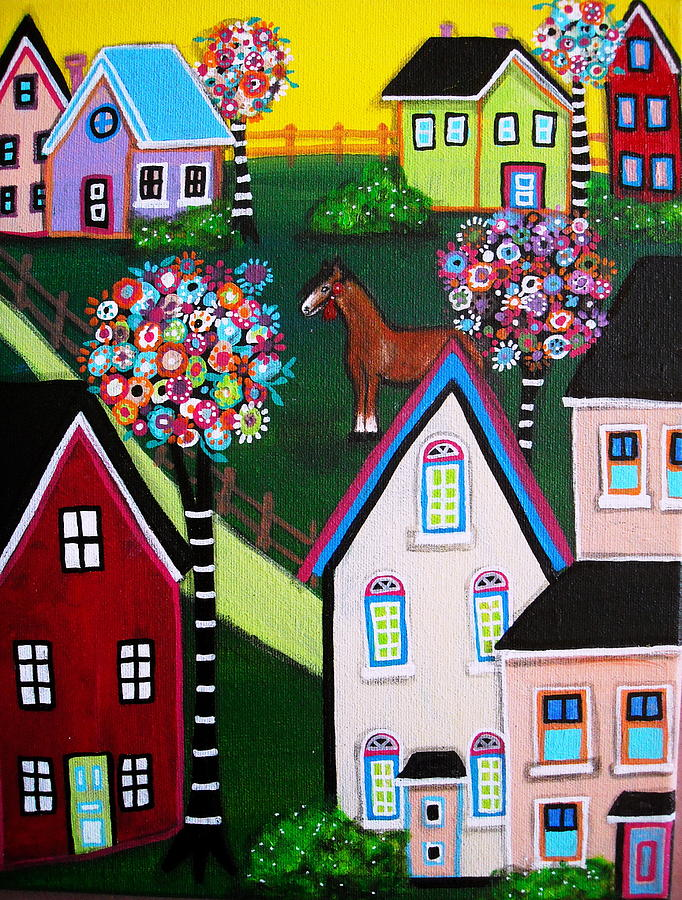 Angel Painting - Farm Home by Pristine Cartera Turkus
