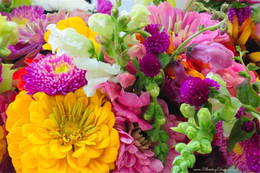 Flowers Photograph - Farm Market Flowers by PhotohogDesigns