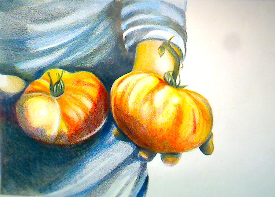 Food Drawing - Farmers Market 1 by Cami Rodriguez