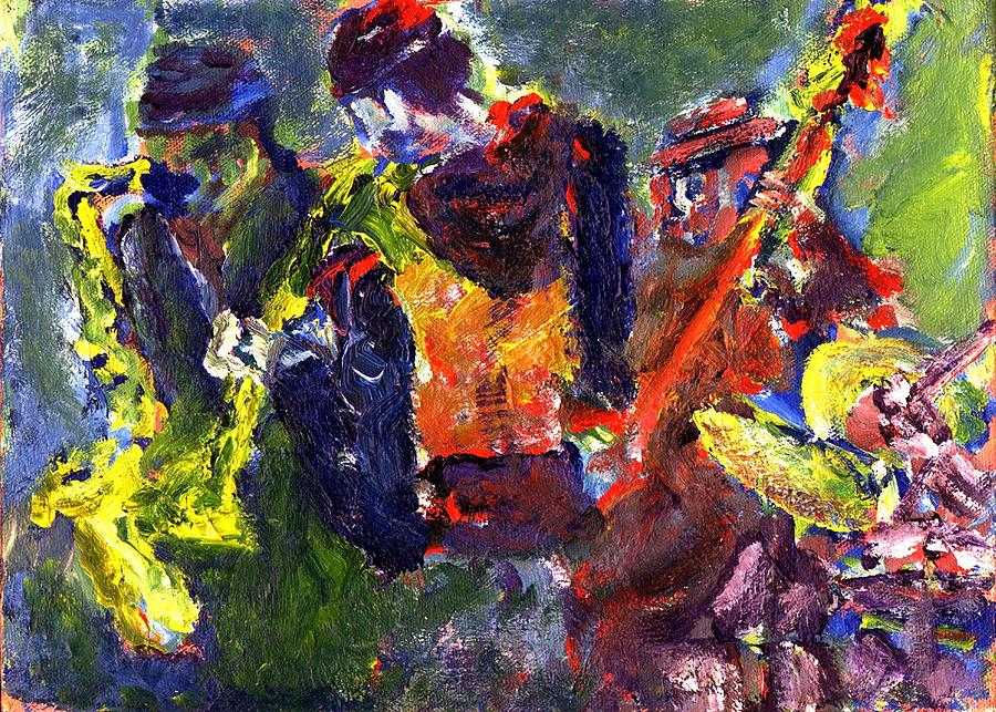 Live Jazz Quartet Painting - Faruq And Skeeter by Don Thibodeaux