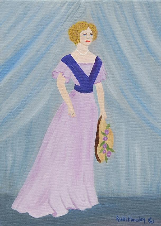 Figurative Painting - Fashion Lady by Ruth  Housley
