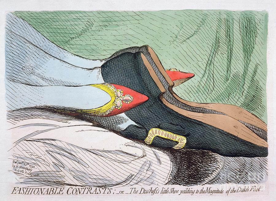 Fashionable Painting - Fashionable Contrasts by James Gillray