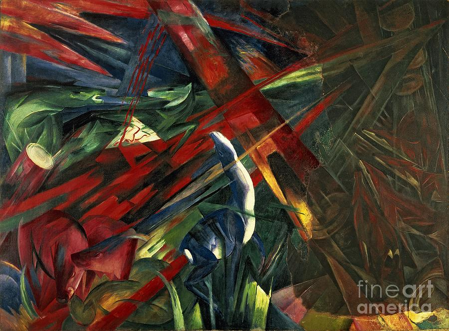 Fate Painting - Fate Of The Animals by Franz Marc