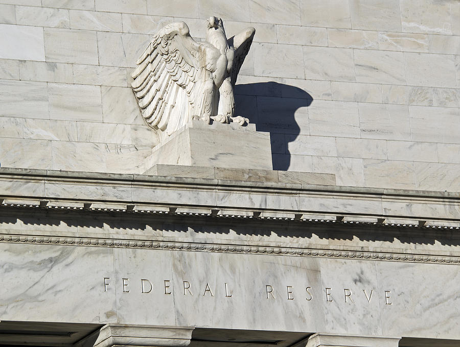 Fed Photograph - Federal Reserve Eagle Detail Washington Dc by Brendan Reals