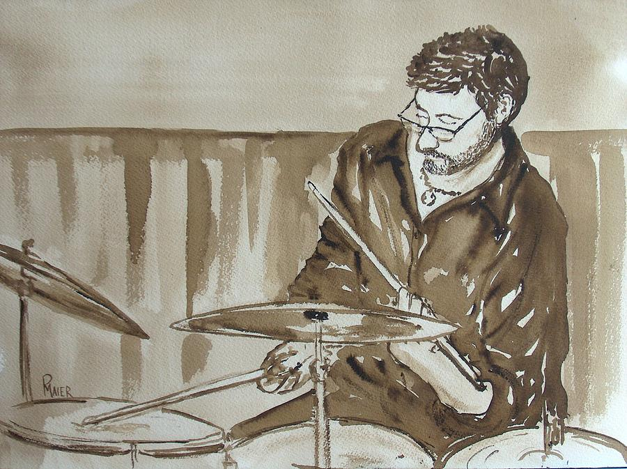 Drums Painting - Feelin It by Pete Maier