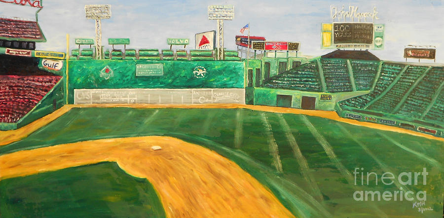 Boston Painting - Fenway Park by Kristin St Hilaire
