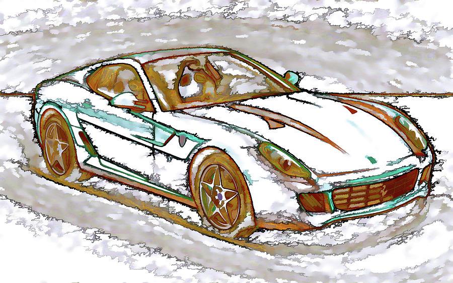 Ferrari 1 Painting By Lanjee Chee