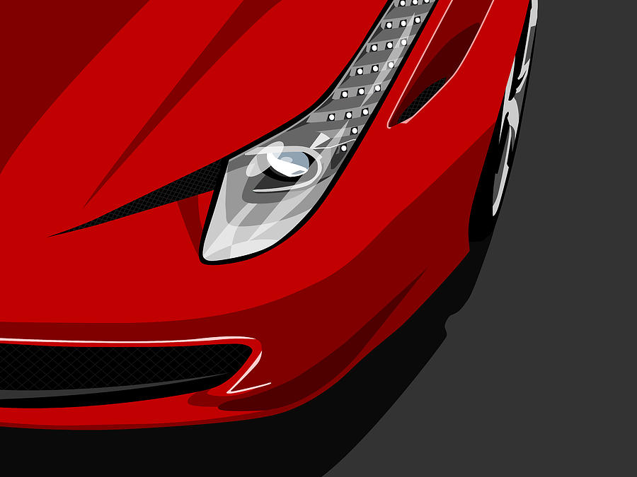 Ferrari Digital Art - Ferrari 458 Italia by Michael Tompsett