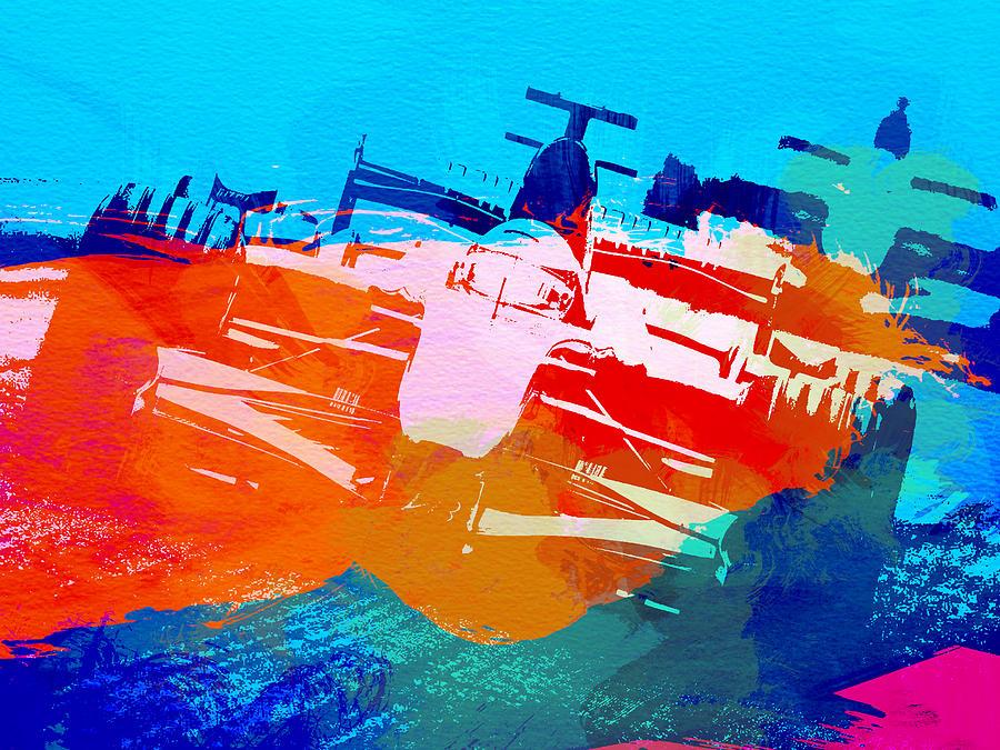 Michael Schumacher Painting - Ferrari F1 Racing by Naxart Studio