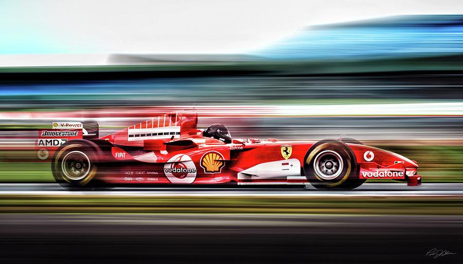 Ferrari Digital Art - Ferrari Unbridled by Peter Chilelli