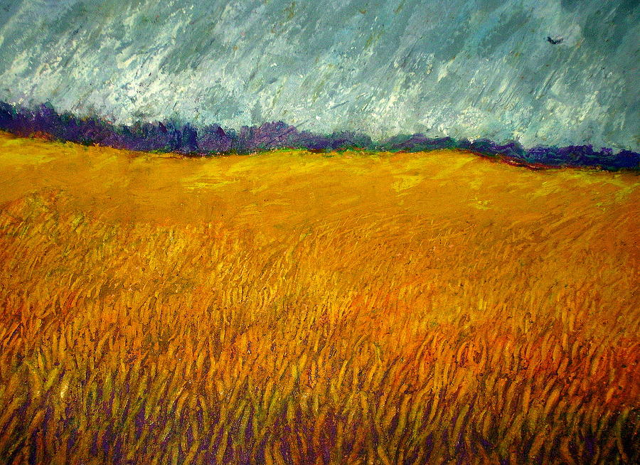 Field Painting - Field At Noon by Kent Whitaker