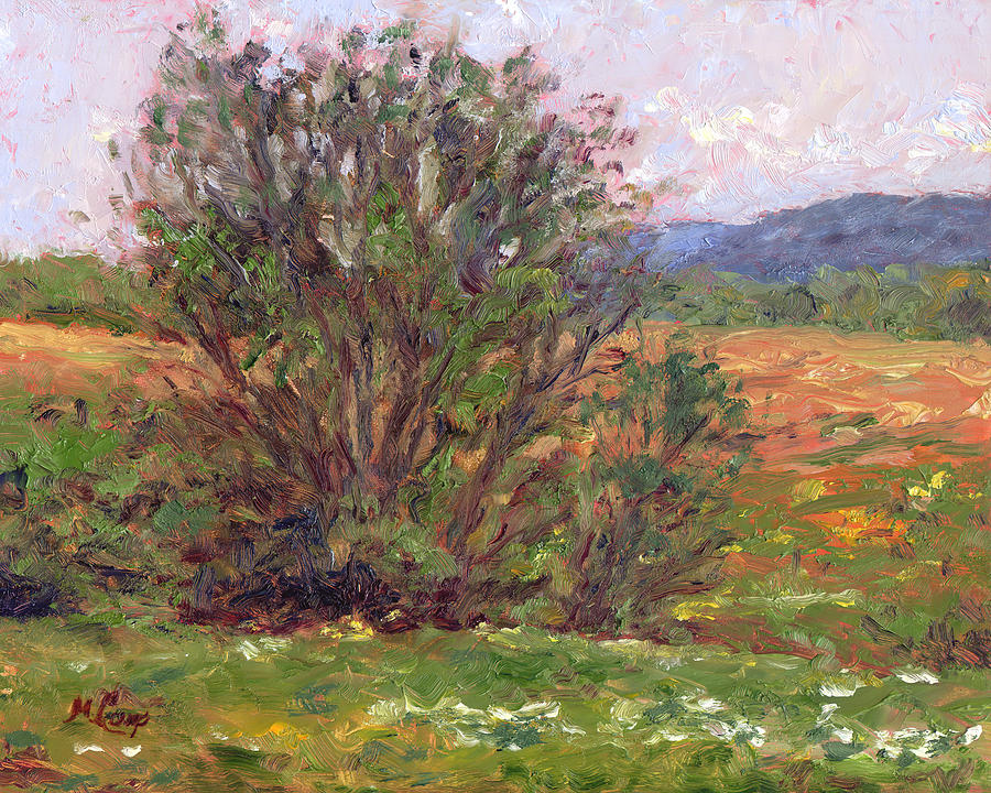 Nature Painting - Field In Spring by Michael Camp
