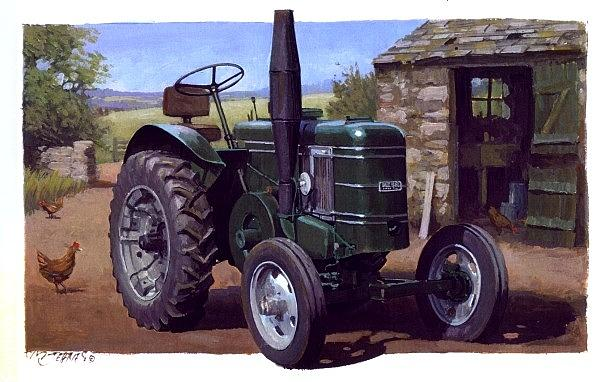 Tractor Painting - Field Marshall Tractor by Mike  Jeffries