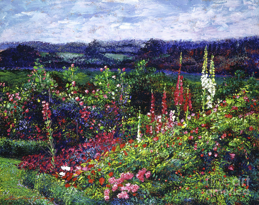 Flowers Painting - Fields Of Floral Splendor by David Lloyd Glover
