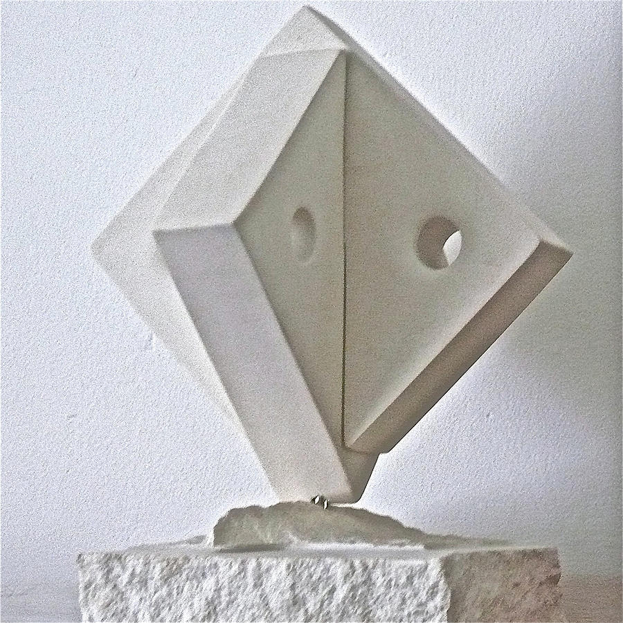 Fifth Sculpture - Fifth Chakra Swastika  by Frank Pasquill