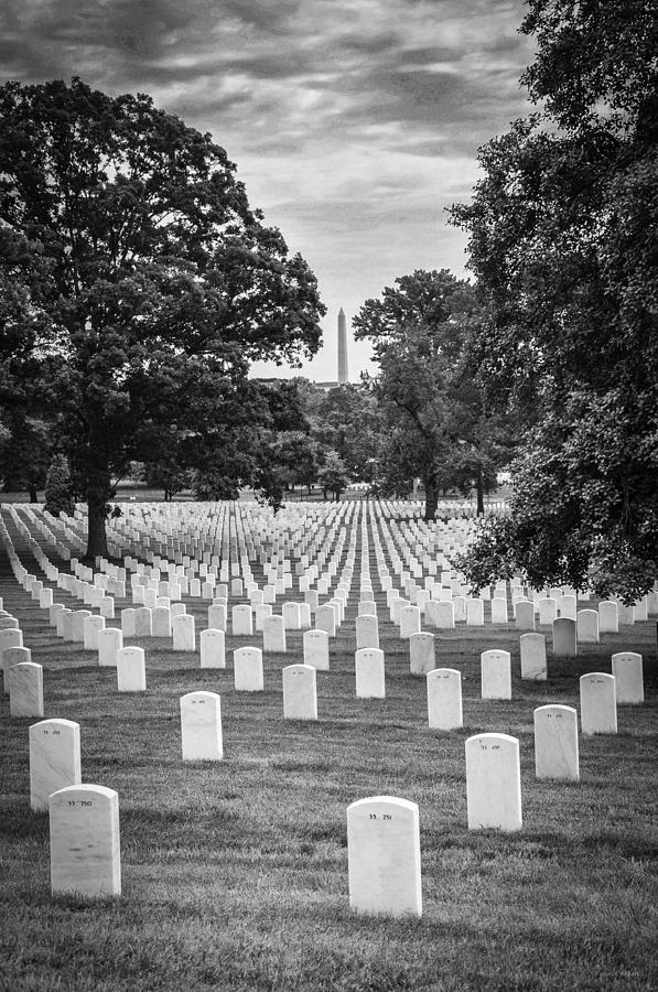 Arlington National Cemetary Photograph - Final Rest by Frank Mari