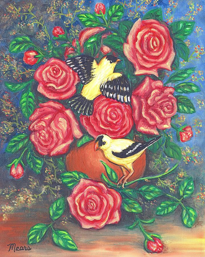 Birds Painting - Finch Fancy by Linda Mears