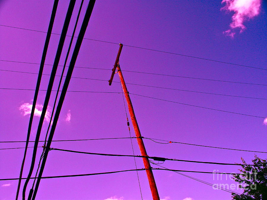 Telephone Poles Photograph - Find Beauty Where You May by Chuck Taylor