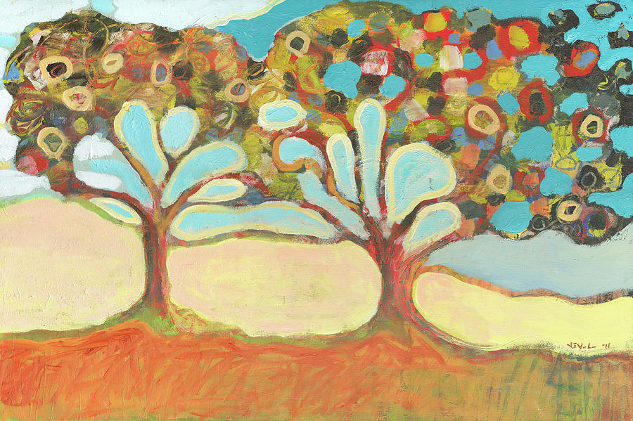 Tree Painting - Finding Strength Together by Jennifer Lommers