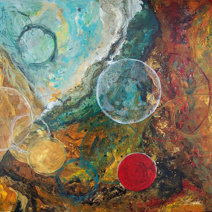 Abstract Painting - Fire And Ice by Laura Swink