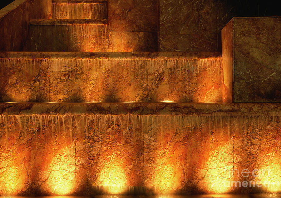 Fountain Photograph - Fire And Water by Sandra Bronstein
