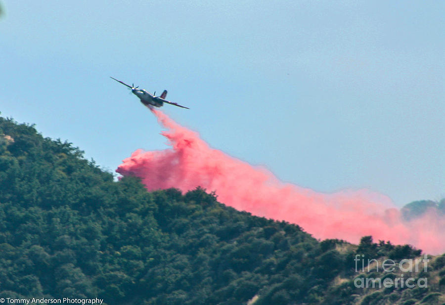 Firefighting Photograph - Fire Bomber Drop by Tommy Anderson