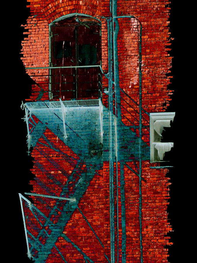 Fire Escape Digital Art - Fire Escape 7 by Tim Allen