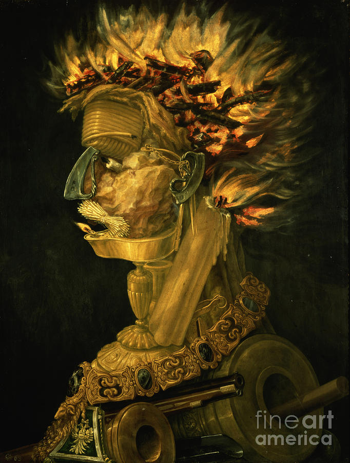 Fire Painting - Fire by Giuseppe Arcimboldo