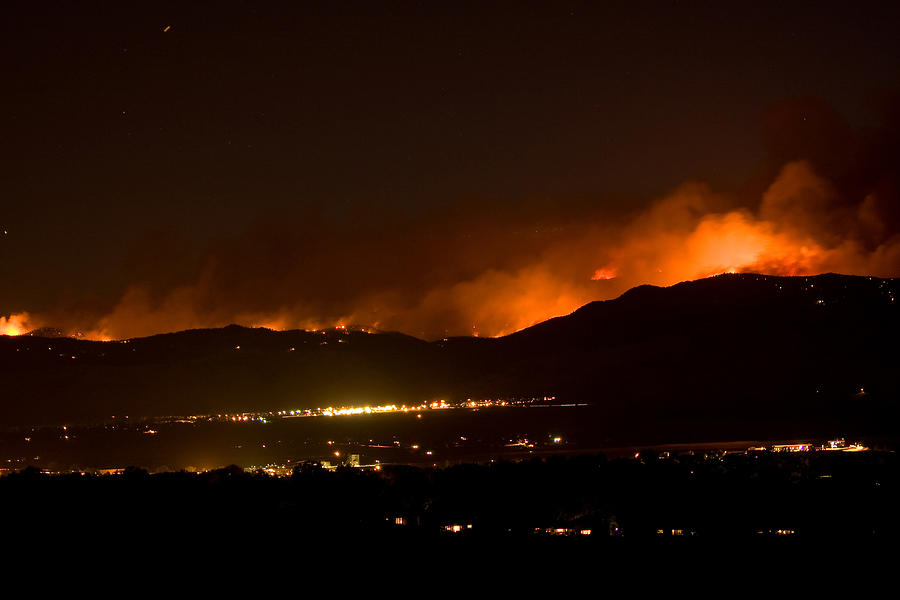 4 Mile Canyon Fire Photograph - Fire In The Mountains No Lightning In The Air  by James BO  Insogna