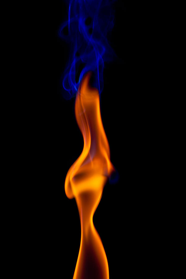 Abstract Photograph - Fire Lady by Gert Lavsen