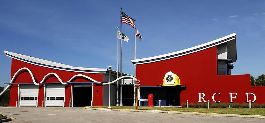 Fire Station Disney Style Photograph