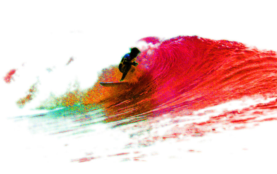 Surf Photograph - Fire Water by David Coyle