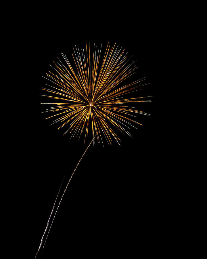Fire Works Bursts Photograph