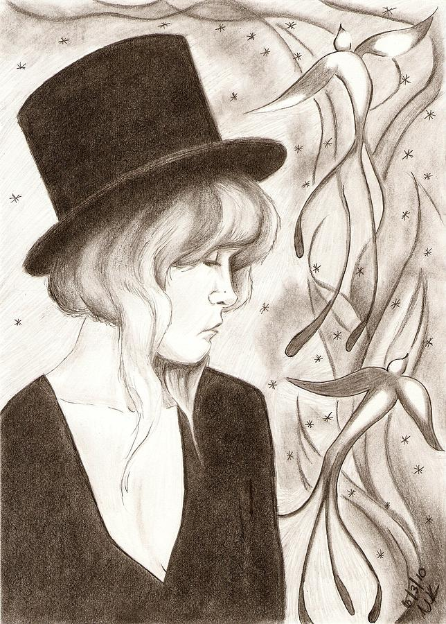 Stevie Nicks Drawing - Fireflies by Michelle Kinzler