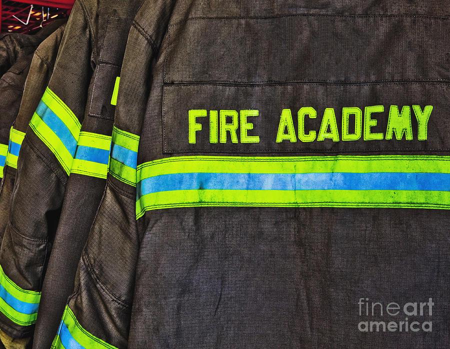 Accomplishment Photograph - Fireman Jackets by Skip Nall