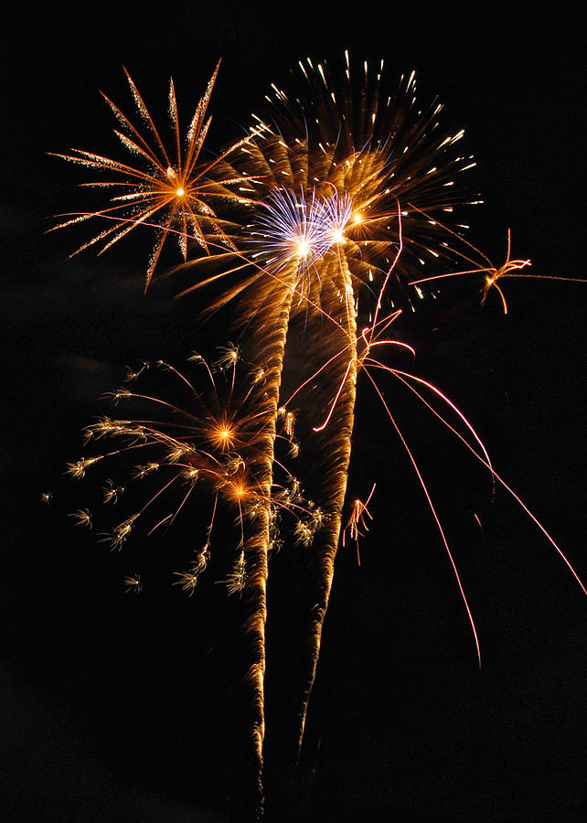 Fireworks Photograph - Fireworks 2 by Michael Peychich