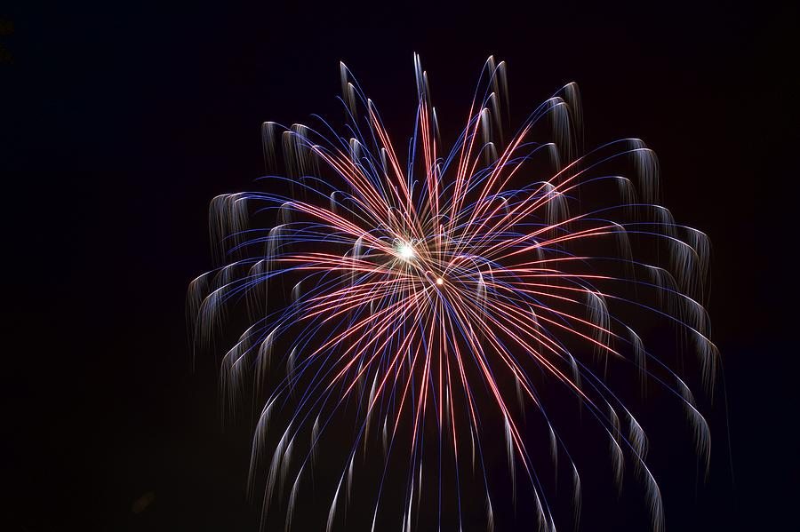 Fireworks 3 - American Flag In Red White And Blue Photograph by Matt ...