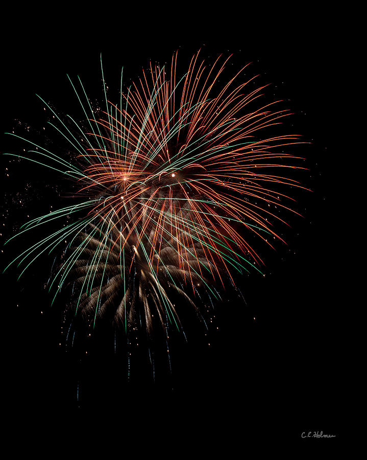 Fireworks Photograph - Fireworks by Christopher Holmes