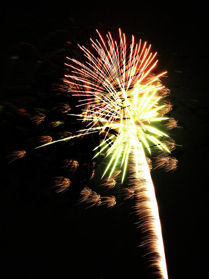Dunkirk Ny Photograph - Fireworks From A Boat - 9 by Jeffrey Peterson