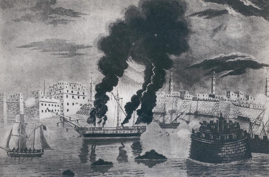 History Photograph - First Barbary War 1801-1805. Burning by Everett