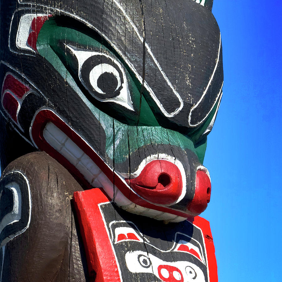 First Nation Totem Photograph