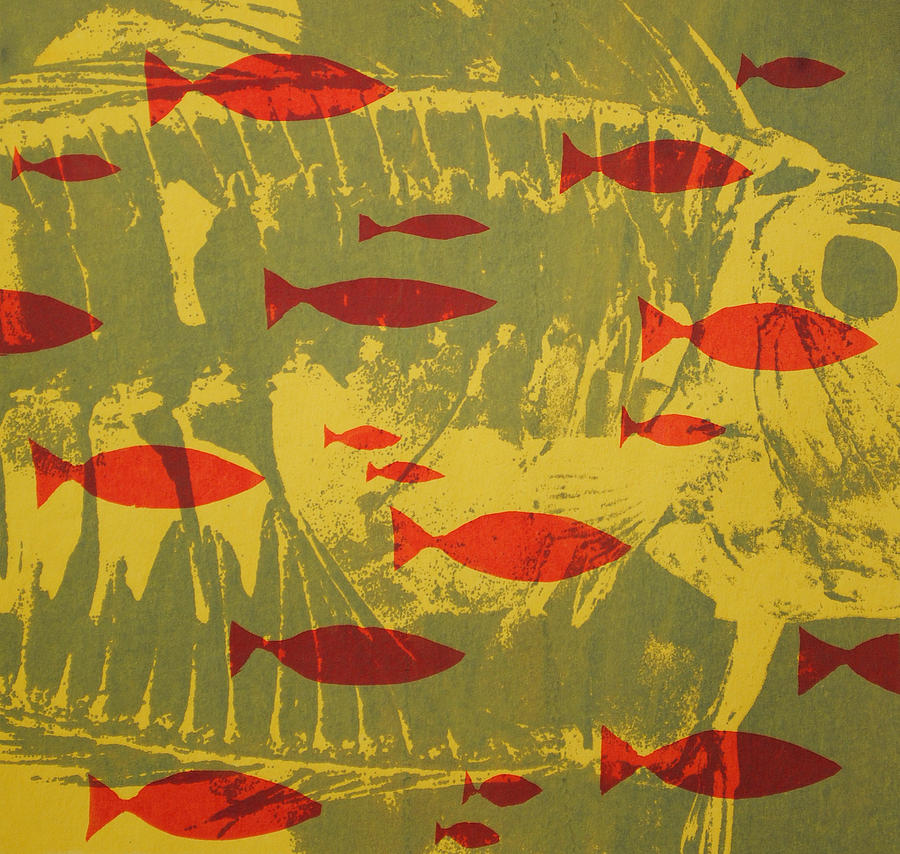 Fish For Thought Tapestry - Textile by Chris Steinken