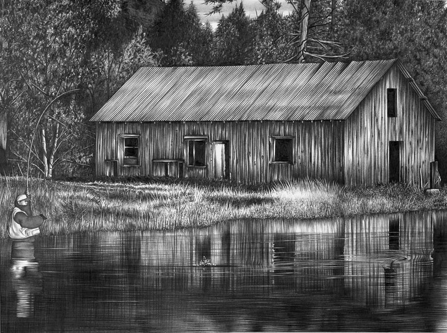 Fisherman Drawing - Fisherman by Jerry Winick