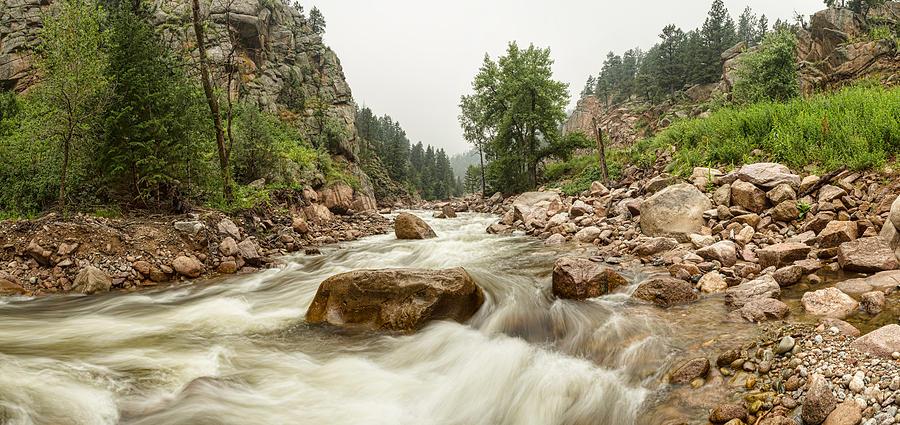 Fishermans Panorama Colorado Canyon View Photograph