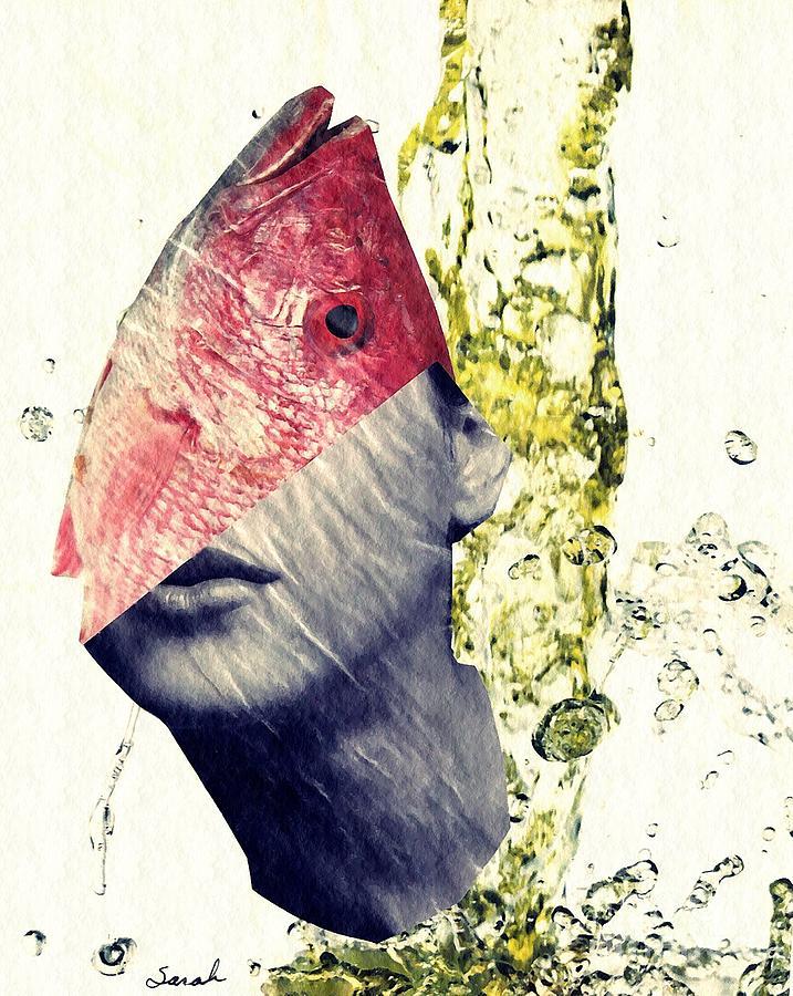 Head Mixed Media - Fishhead by Sarah Loft