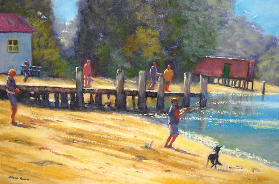 Merimbula Australia  city photos gallery : Fishing At Merimbula Australia is a painting by Diane Quee which was ...
