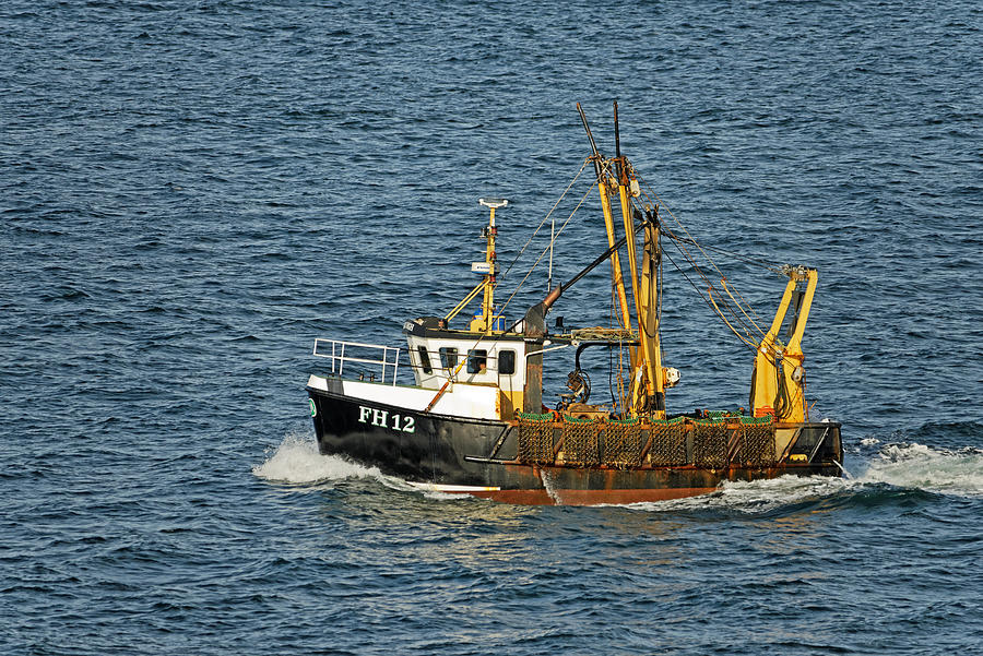 Fishing Boat Fh12 Off Pendennis Point Photograph