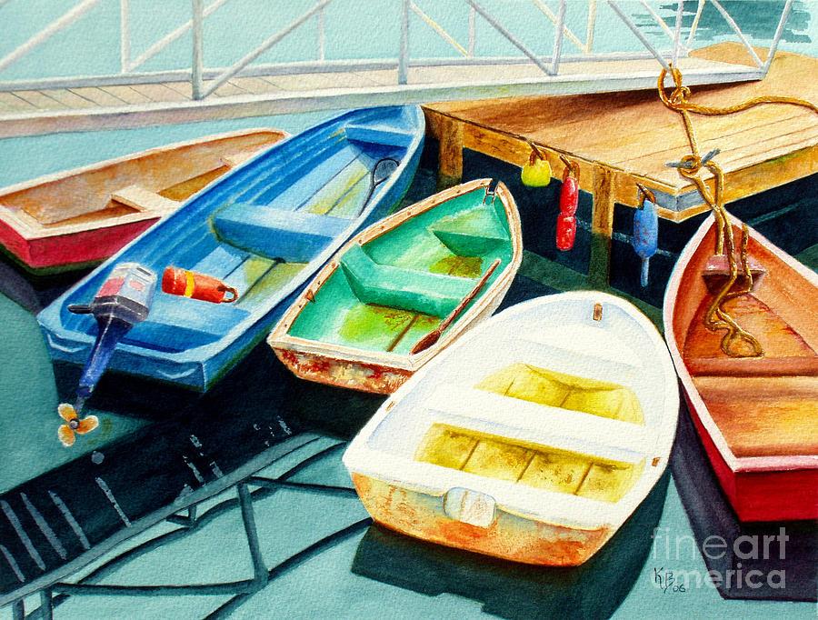Fishing Painting - Fishing Boats by Karen Fleschler