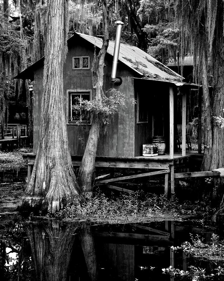 Fishing cabin on caddo lake photograph by rod carver for Fishing cabins in texas