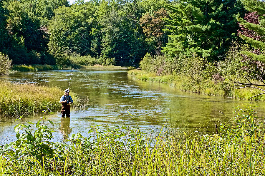 Fishing in platte river in sleeping bear national for Platte river michigan fishing